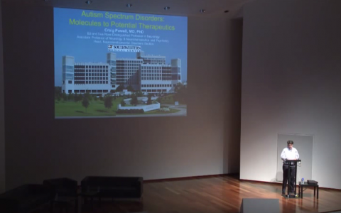 "Lecture from Dr. Craig Powel ""Perturbações do Espectro do Autismo: das moléculas a terapêuticas potenciais""  PIN and Champalimaud Foundation Symposium – 30 and 31 May 2014"