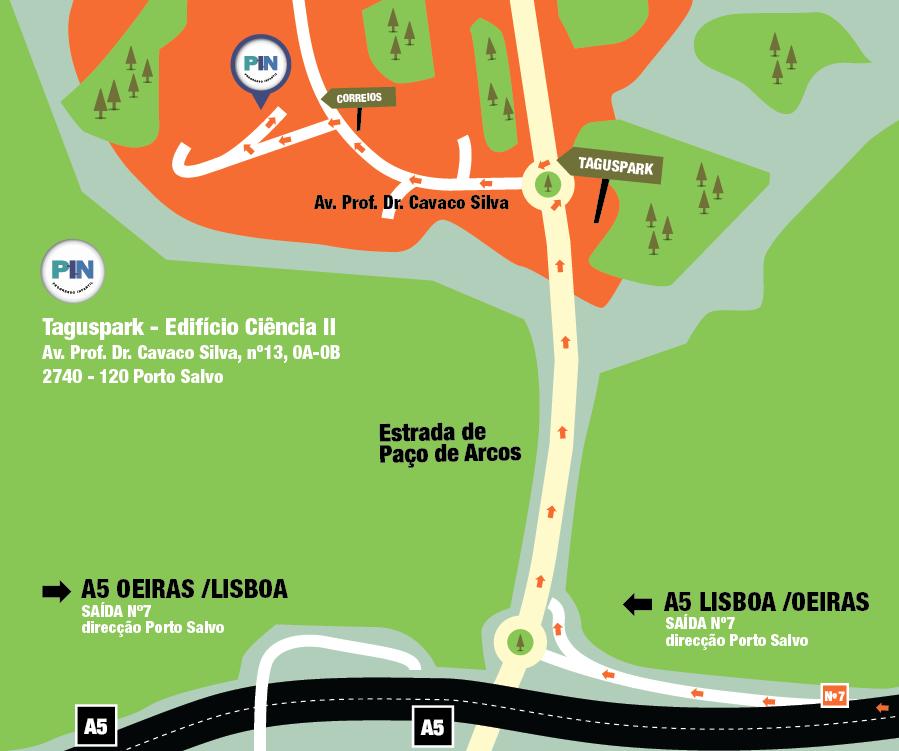 mapa taguspark PIN – Centro de Desenvolvimento | Contactos Antigos mapa taguspark