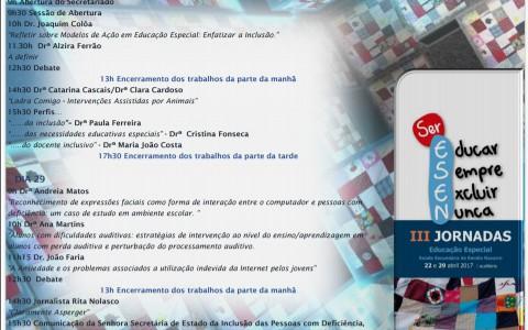 III Jornadas de Educação Especial da Escola Secundária de Emílio Navarro
