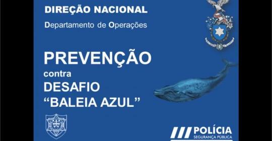 PSP Alerta para jogo da Baleia Azul