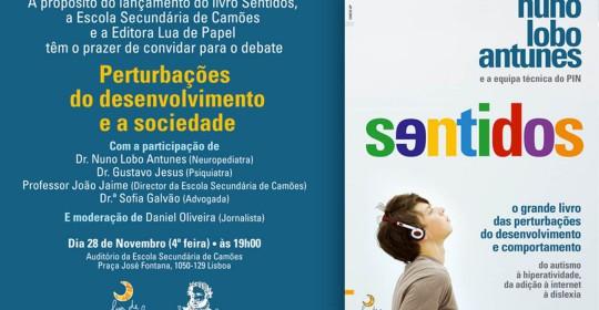 """(Português) Lançamento do Livro """"Sentidos – O grande livro das perturbações do desenvolvimento e comportamento"""""""