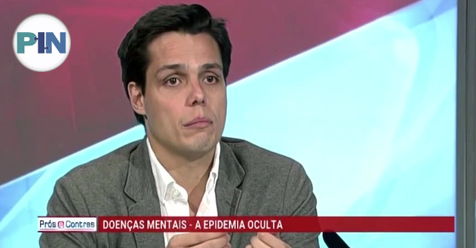 """«Prós e Contras» – RTP """"Saúde Mental… A Epidemia Oculta"""" – Dr. Henrique Prata Ribeiro"""