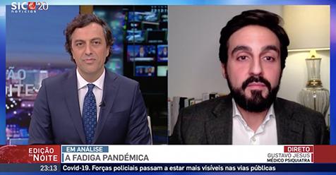 """Hoje o Dr. Gustavo Jesus, Psiquiatra esteve presente na """" SIC NOTICIAS"""" a explicar e dar contexto sobre """" COVID-19. Fadiga pandémica está atingir a população"""""""