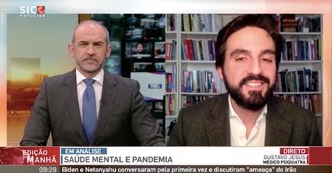 """Dr. Gustavo Jesus, Psiquiatra esteve presente na """" SIC NOTICIAS"""" abordando o tema, """"Depressão é principal causa de incapacidade em todo o Mundo""""."""