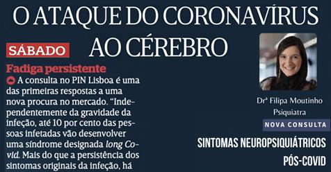 """Nova Consulta """"Sintomas Neuropsiquiátricos Pós-Covid"""", Dra. Filipa Moutinho"""